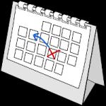 Changement de date sur un calendrier