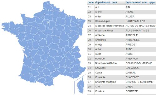 liste des departements de france - Photo
