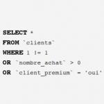 Style d'indentation d'un code SQL