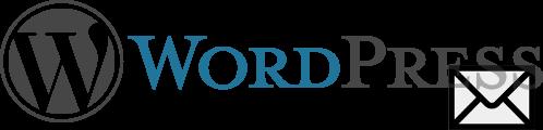 Logo WordPress avec enveloppe